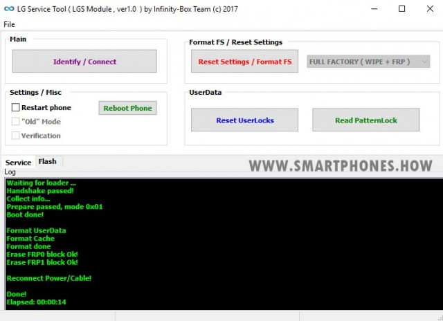 Reset Userdata Cache and FRP LG K220DSZ
